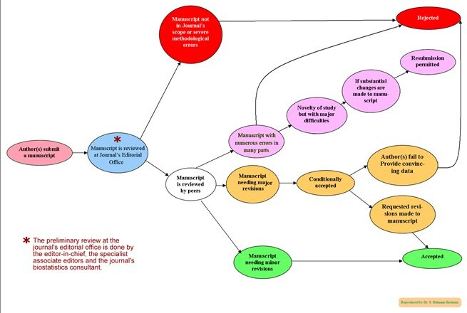 Peer review process journals mindmap example